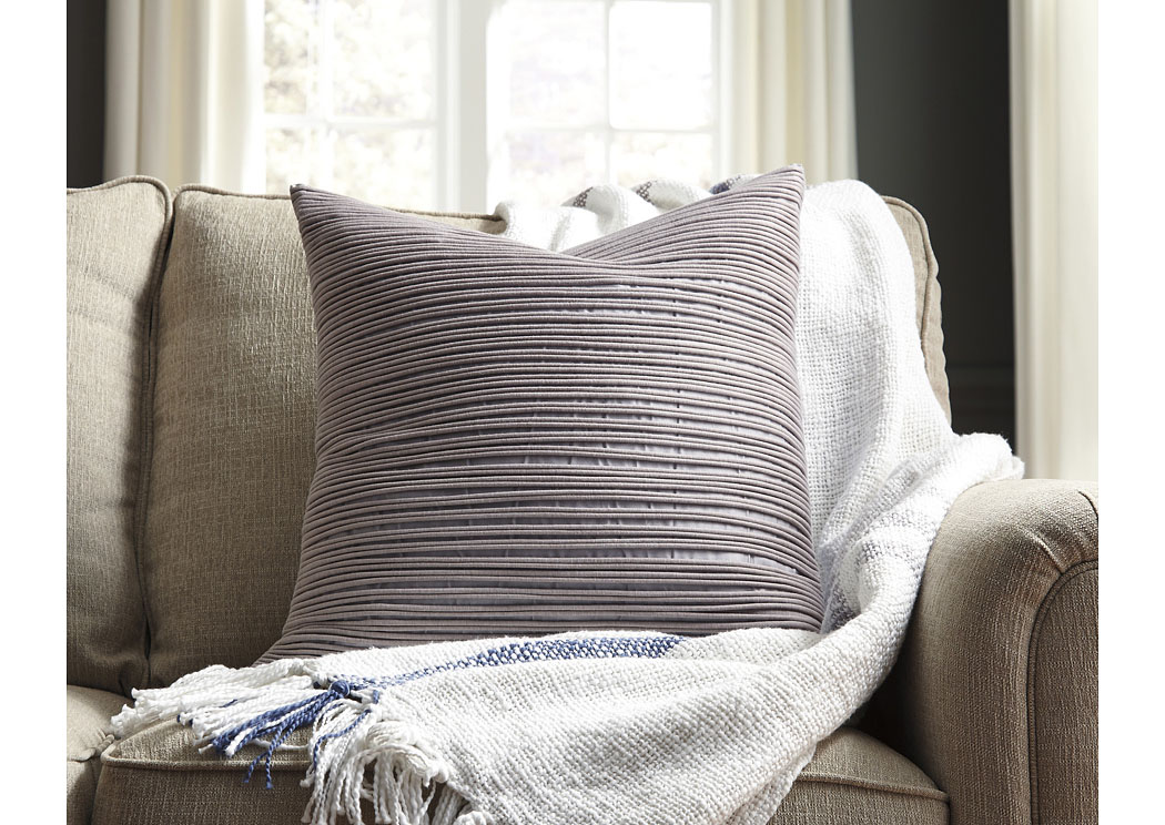 Lestyn Gray Pillow (4/CS),In Store Product