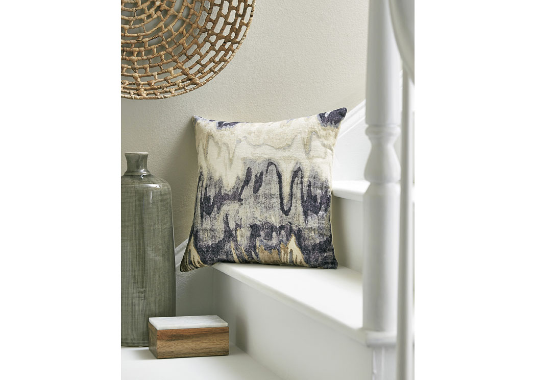 Aneko Navy Blue Pillow (4/CS),In Store Product