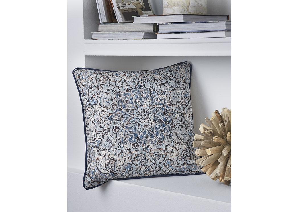 Mariah Blue Pillow (4/CS),In Store Product