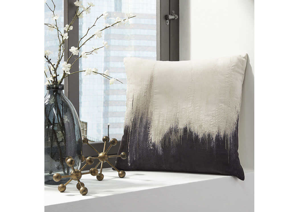 Madalene Charcoal Pillow (4/CS),In Store Product