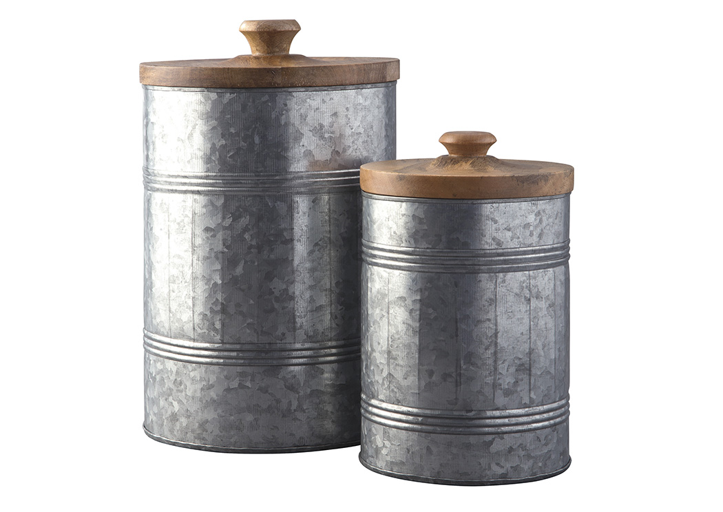 Divakar Antique Gray Jar Set (Set of 2),In Store Product