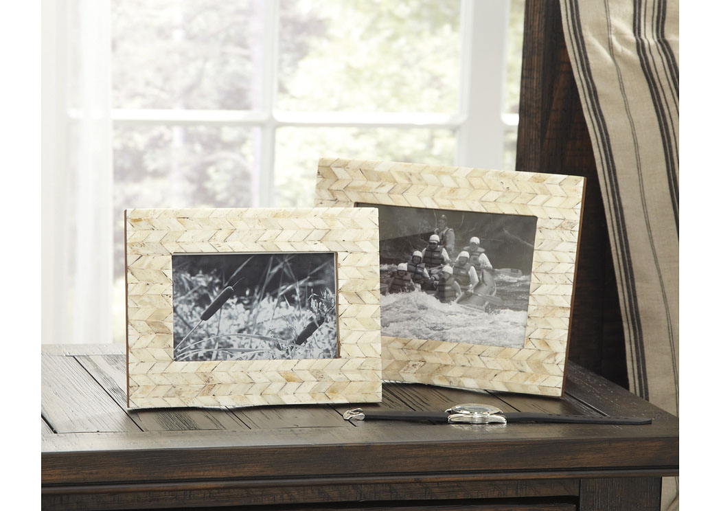 Kase Cream Photo Frame (Set of 2) (2/CS),In Store Product