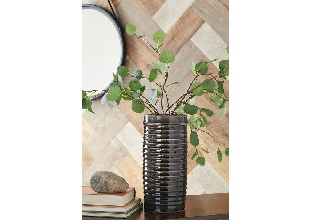 Derry Gray Vase (2/CS),In Store Product