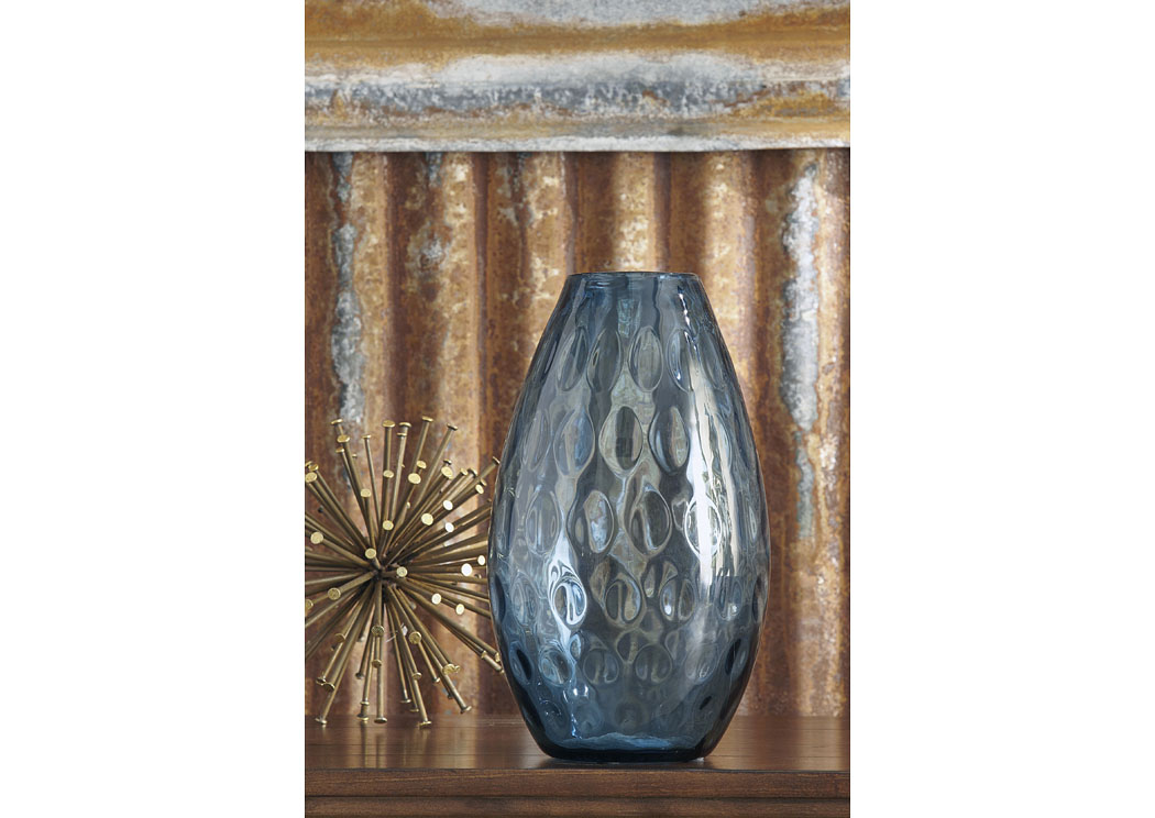 Devanand Blue Vase (2/CS),In Store Product