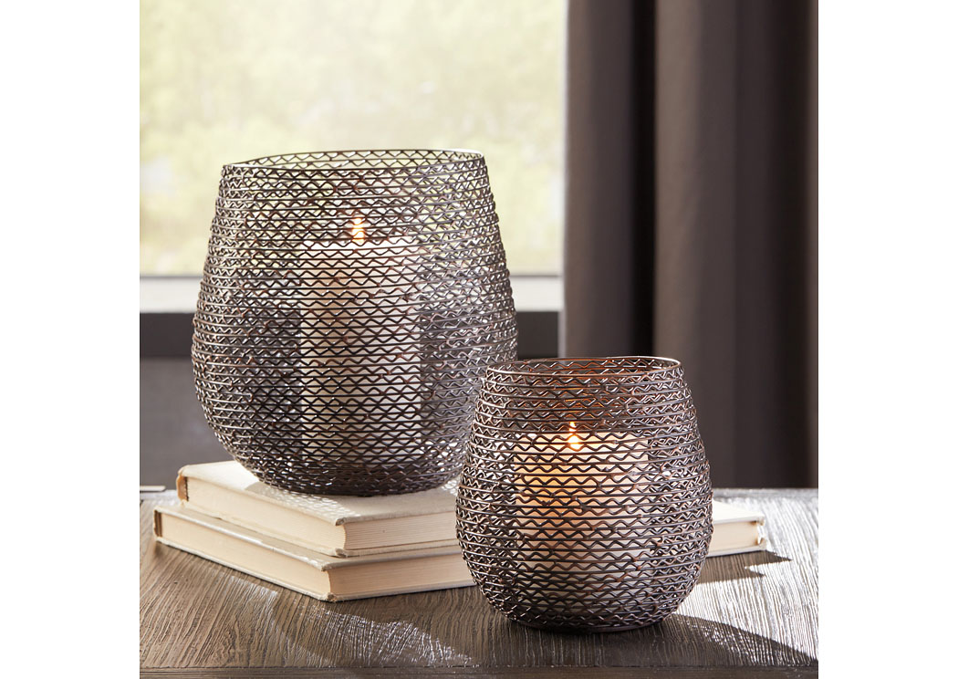 Desdemona Bronze Finish Candle Holder (Set of 2)(2/CS),In Store Product