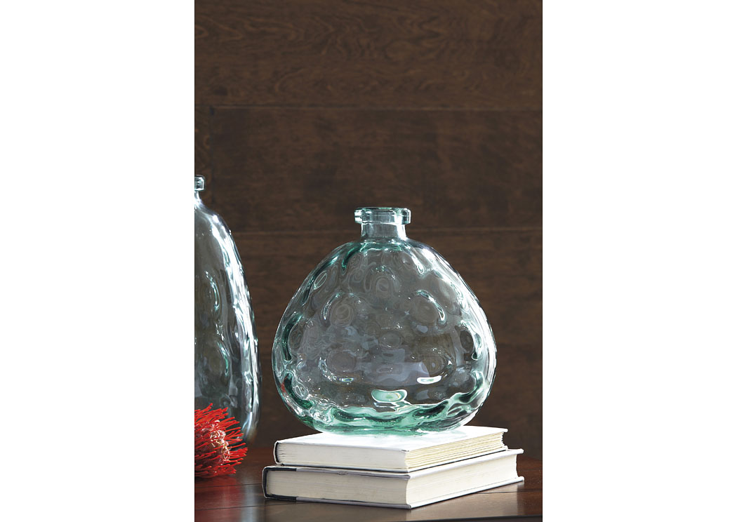 Devansh Green Vase (2/CS),In Store Product