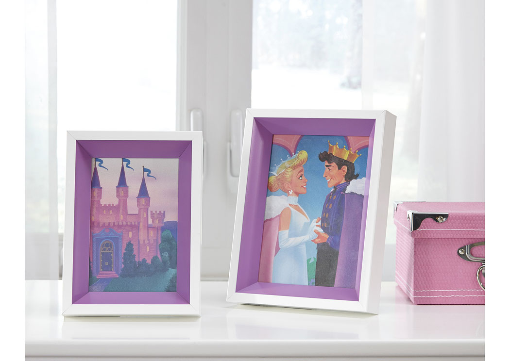 Obie White/Purple Photo Frame (Set of 2) (2/CS),In Store Product