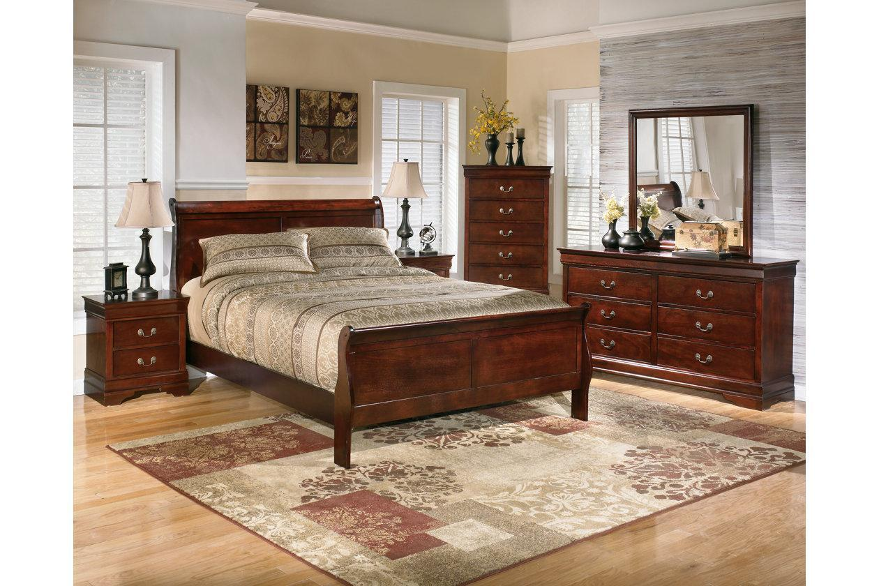 Alisdair Dark Brown Twin Bed w/Dresser, Mirror and Nightstand,In Store Product