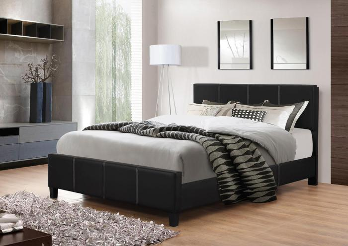 B630 Black Queen Bed,In Store Product
