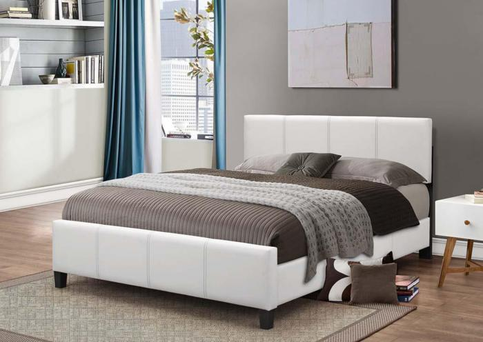 B640 White Queen Bed,In Store Product