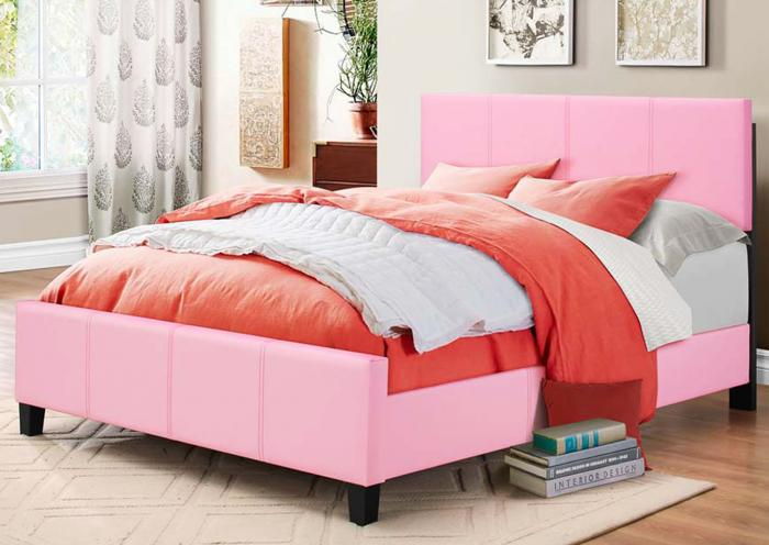 Pink Full Bed,In Store Product