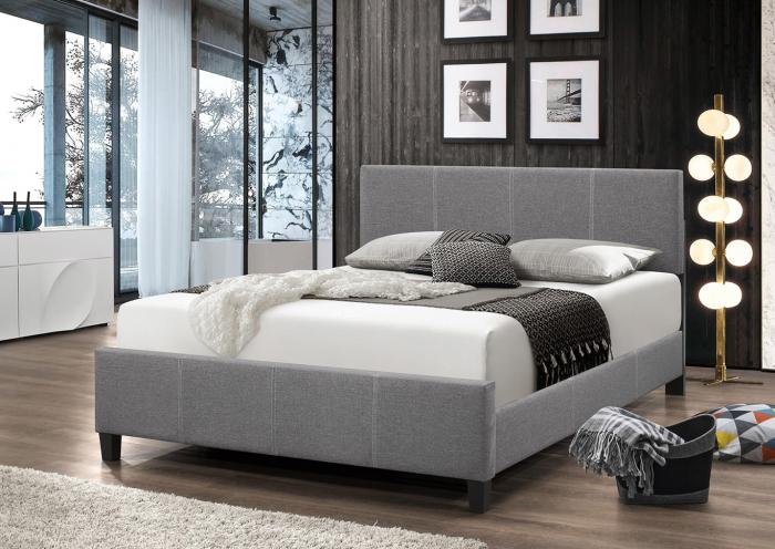 B690 Gray Linen King Bed,In Store Product