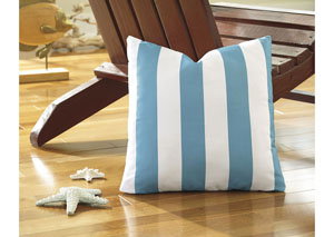 Hutto Aqua/White Pillow (4/CS)