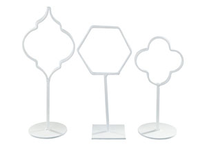 Acotas White Photo Holder (Set of 3) (2/CS)
