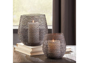 Desdemona Bronze Finish Candle Holder (Set of 2)(2/CS)