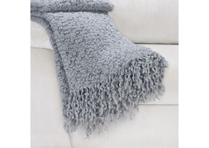 Throw Light Gray Throw (3/CS)