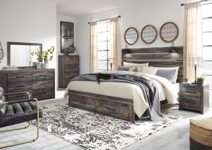 6 Pc Full Storage Bedroom Set
