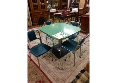Image for Retro Diner Style Table and 4 Chairs