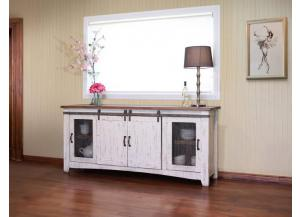 "Image for Pueblo White 80"" TV Stand"