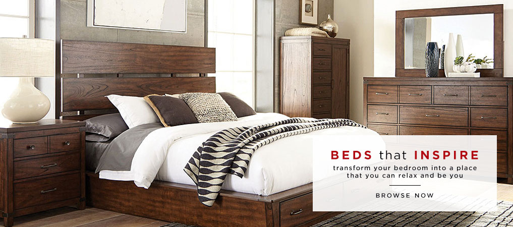 Contemporary Wood Panel Bed Set