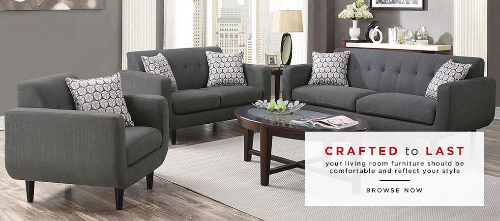 Modern Gray Living Room Sofa Set