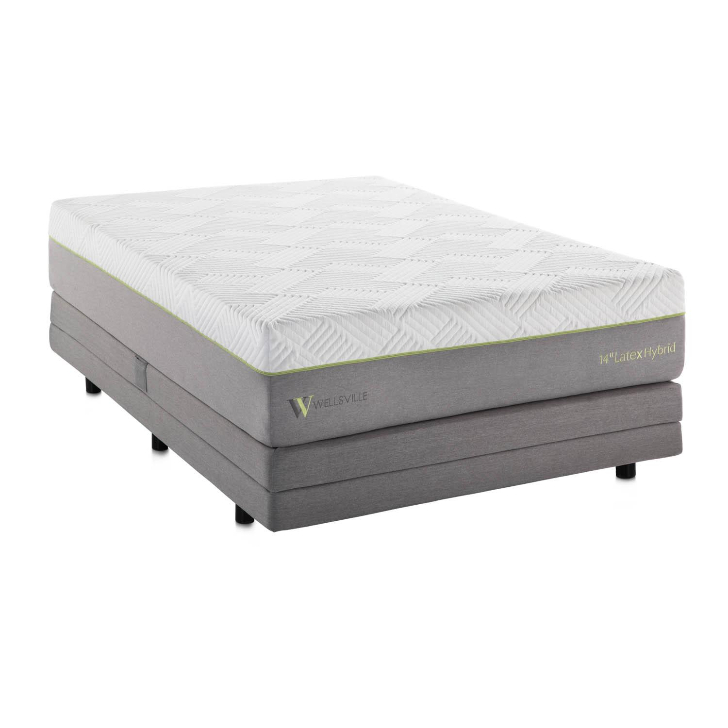 Wellsville 14 Inch Latex Hybrid Mattress Queen,Bayit Furniture Line
