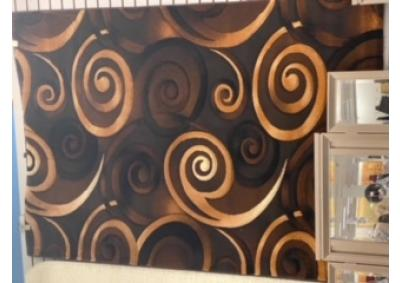 Image for Multi Brown Swirl Rug