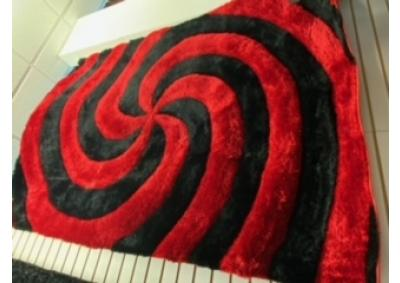 Image for Red Black Swirl Rug