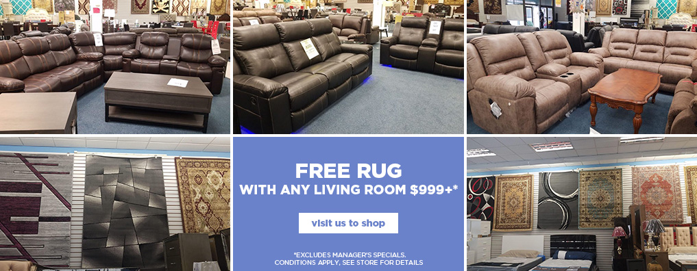 Free Rug with Living Room Purchase