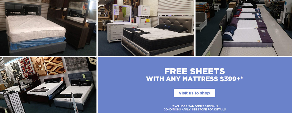 Free Sheets with Mattress Purchase