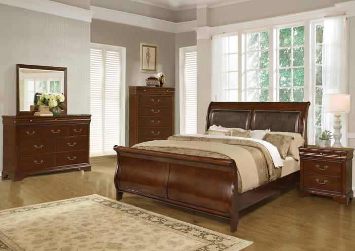 4116 Queen bed dresser & mirror,Life style
