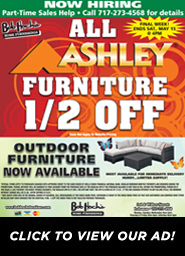 Final Week - All Ashley Furniture Half Off - View Our Ad