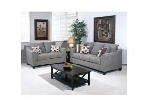 Image for Serta-Hugh's Flyer Metal Sofa and Love seat set includes accent pillows