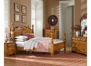 Image for Georgetown bedroom collection includes queen poster bed,dresser,mirror,chest and one nightstand