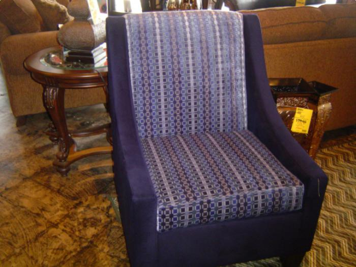 Porsche Bay Breeze/Time Square Cobalt Chair,Brandywine Showcase