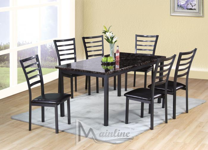 Fairmont Rectangle Table and 6 Chairs ,Brandywine Showcase