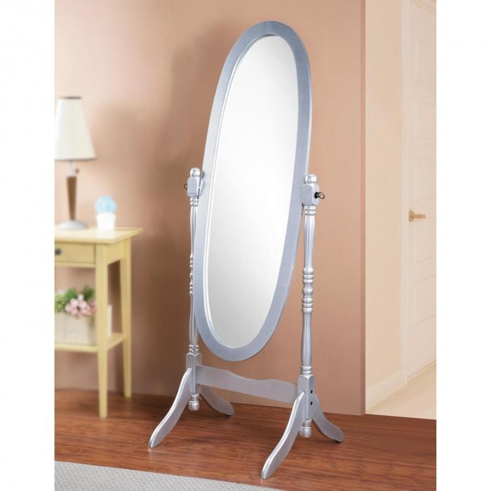 Cheval Mirror Silver,Brandywine Showcase