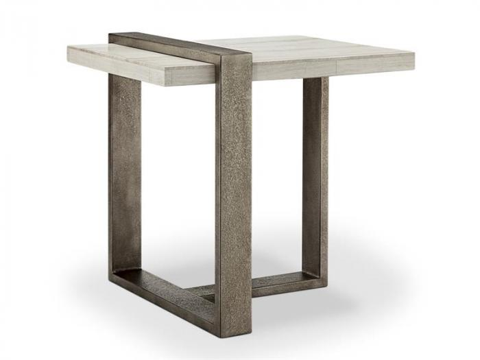 End Table Wiltshire Stone Top,Brandywine Showcase