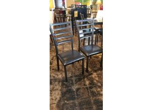Image for 2 Fairmont Fully Welded Gun Metal Chairs