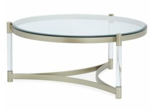 Image for Silas Platinum Acrylic and Glass Cocktail Table