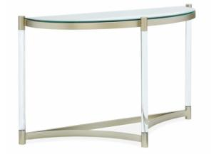 Image for Silas Platinum Acrylic and Glass Console Table