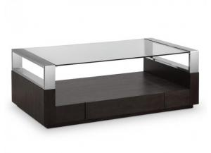 Image for  Revere Graphite Cocktail Table/Chrome/Glass