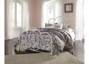 Image for Queen Bed Loriday Aged White