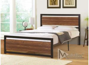 Image for Twin Platform Bed Planking Twin Bed