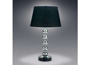 Table Lamp 5 Ball Chrome W/ Black Shade