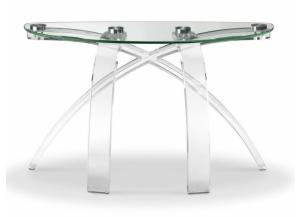 Image for Cassius Half Moon Shaped Acrylic/Glass Sofa Table