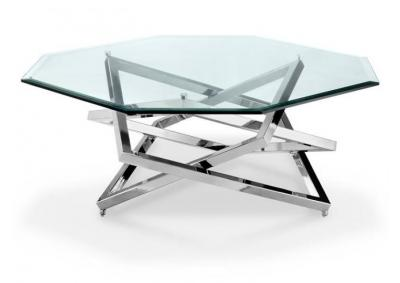 Image for Cocktail Table Chromed Plating Octagonal