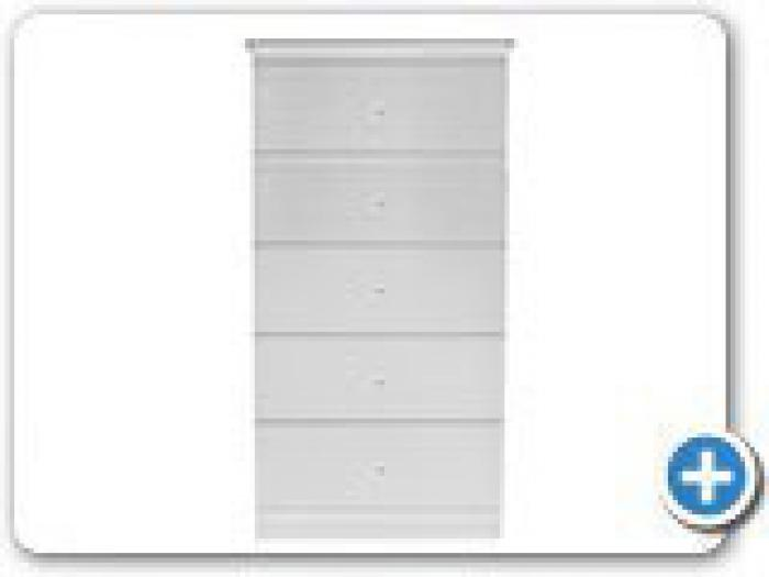 B840 White 5 Drawer Chest,Landmark Furniture