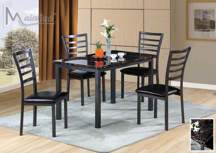 22000 Fairmont Dining Table with 4 Chairs,Mainline