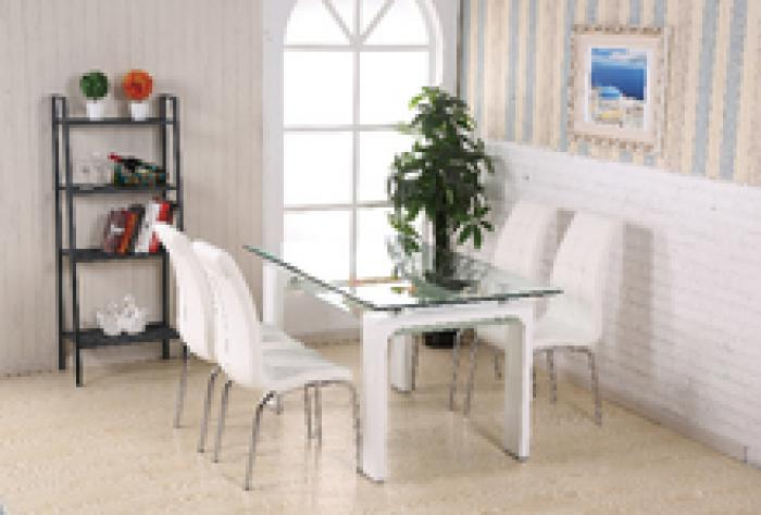 3003WH-2650WH 5 Piece White Dining Set,PJ's Warehouse